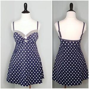 24th & Ocean Blue Polka Dot Swimsuit